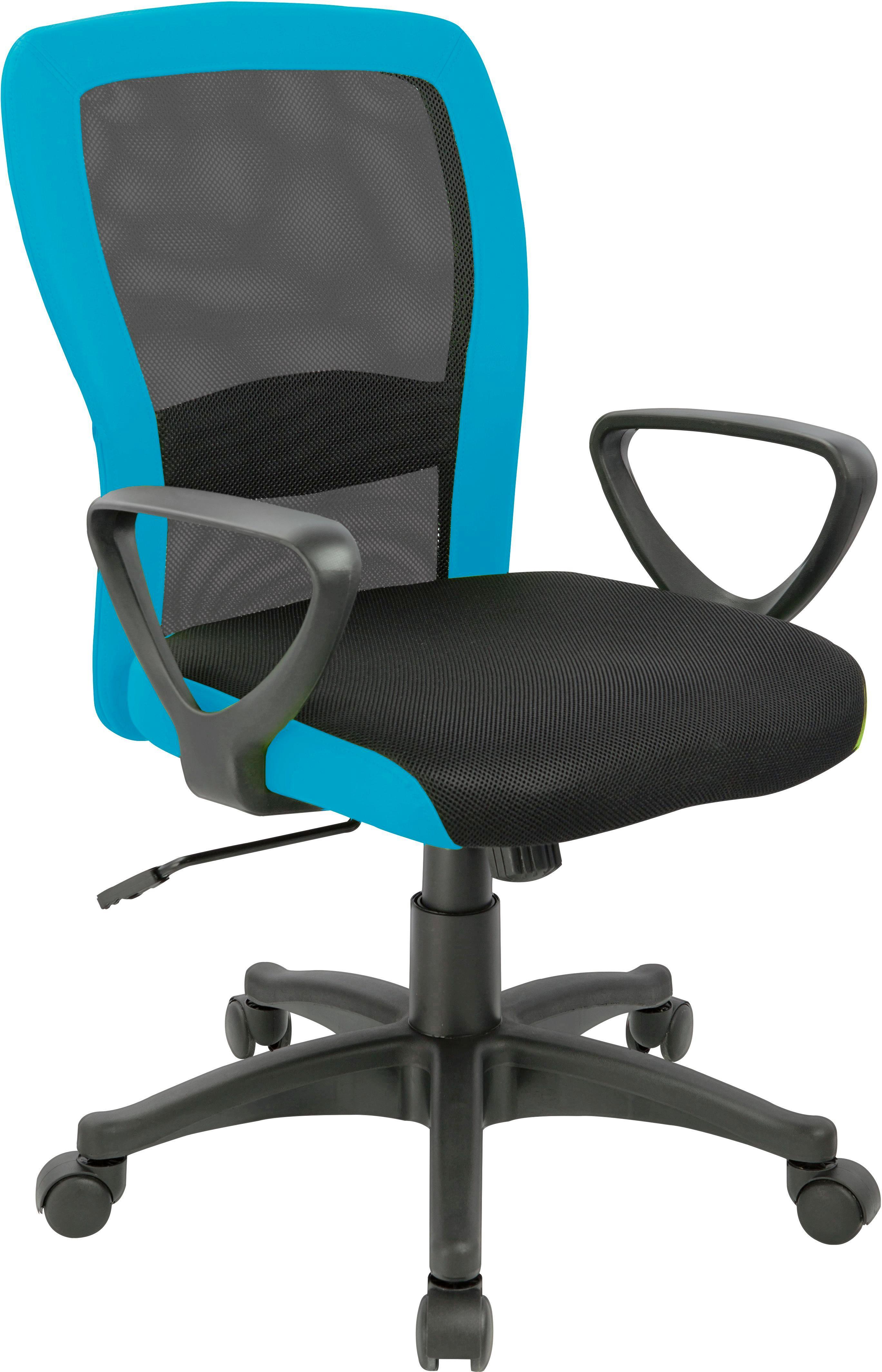 Otočná Židle Petra - petrolej/černá, Moderní, kov/textil (60/91/98,5/57cm)