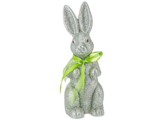 Dekoračný Zajac Gustaf - mätovozelená, Basics, plast (26,5cm)