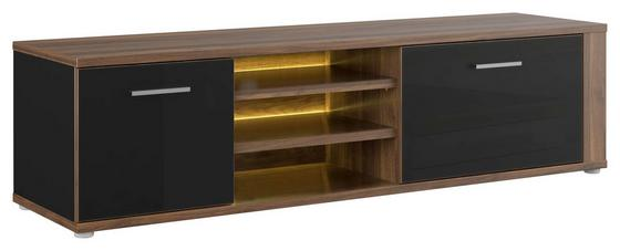Tv - Elem Lombardo - fekete/diófa színű, konvencionális, műanyag/fém (157,9/41,5/41,3cm)