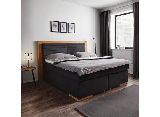 Americká Posteľ Melly 180x200 Cm Vrátane Toppera - farby dubu/tmavosivá, Moderný, drevo/textil (206/210/130cm) - Mömax modern living