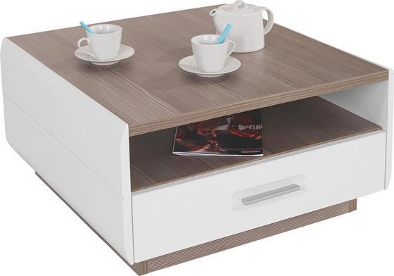 Dohányzóasztal Avensis - Tölgyfa/Fehér, modern (75/40/75cm) - Luca Bessoni