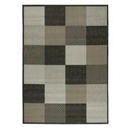 Flachwebeteppich Caro - Anthrazit/Silberfarben, Basics, Textil (80/150cm) - Ombra