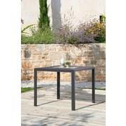 Gartentisch Mila Aluminium Pulverbeschichtet, L 90 cm - Schwarz, MODERN, Kunststoff/Metall (90cm) - Ombra