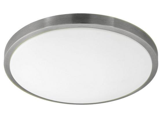 LED-Deckenleuchte Competa 1 - Weiß/Nickelfarben, MODERN, Kunststoff/Metall (43/5,5cm)