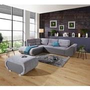 Sedacia Súprava Carisma - sivá, Moderný, kov/drevo (210/300cm) - Ombra