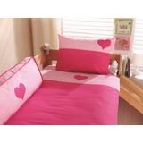 Kinderbettwäsche 140/200cm Rosa/Pink - Pink/Rosa, Design, Textil (80/80cm) - MID.YOU