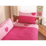 Kinderbettwäsche 140/200cm Rosa/Pink - Pink/Rosa, Design, Textil (80/80cm)