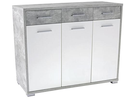 Komoda Q-big New Qbk01 - šedá/bílá, Moderní, dřevo (144/105/44cm)