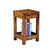 Beistelltisch mit 2 Schubladen Mumbai, Sheesham Echtholz - Sheeshamfarben, Design, Holz (39,5/65/39,5cm) - Livetastic