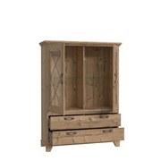 Vitrína Nepal - barvy smrku, Konvenční, kov/dřevěný materiál (120/161/45cm)