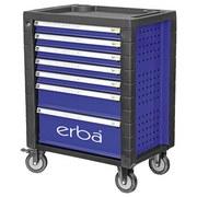 Werkstattwagen inkl. 158-teiligem Werkzeugset - Blau/Schwarz, MODERN, Kunststoff/Metall (76/84/49cm) - Erba