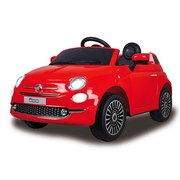 Kinderauto Ride-On Fiat 500 Rot - Rot/Silberfarben, Basics, Kunststoff (112/65/50cm)
