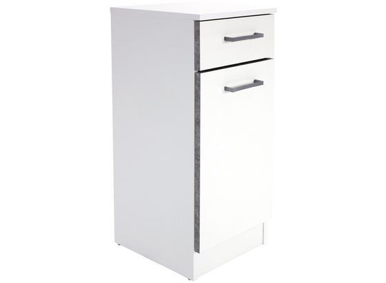 Spodní Skříňka Verona - bílá, Konvenční, kompozitní dřevo (33/80/33cm)