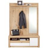 Garderobe Kashmir New - Eichefarben/Weiß, MODERN, Holzwerkstoff (130/192/36cm) - James Wood