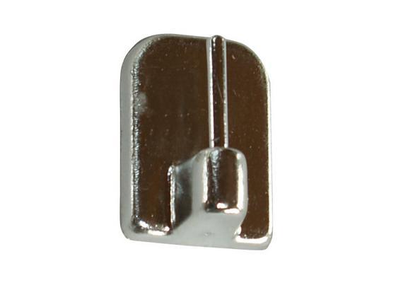 Selbstklebehaken Chrom, 4 Stk. - Chromfarben, KONVENTIONELL, Kunststoff/Metall - Ombra
