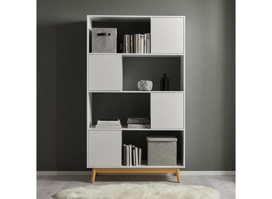 Regál Basic - biela, Moderný (110/185/38cm) - Modern Living