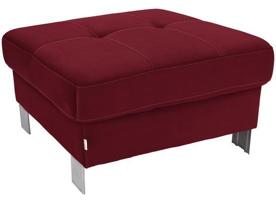 Hocker Savona - Rot, MODERN, Textil (90/44/73cm) - Ombra