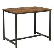 Bartisch Vintage B: 90 cm Braun - Dunkelgrau/Braun, Trend, Holz/Metall (130/90/109cm) - Livetastic