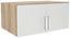 Aufsatzschrank zu Kleiderschrank Wien, 91cm - Eichefarben/Weiß, KONVENTIONELL, Holzwerkstoff (91/39/54cm)