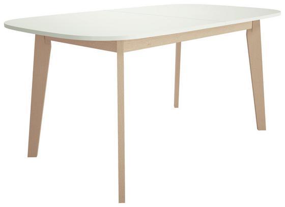 Esstisch Naiss 160/200cm Weiss - Birkefarben/Weiß, MODERN, Holz/Holzwerkstoff (160/200/75/90cm)