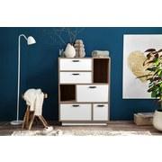 Komoda Image 2 - bílá/Sonoma dub, Moderní, kompozitní dřevo (90/120/45cm)