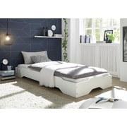 Stapelbett Single 90x200 cm Weiß - Weiß, Basics, Holz (96/25/205cm) - MID.YOU