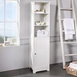 Regál Do Kúpeľne Bianca - bílá, Moderní, dřevěný materiál (40/160/38cm) - MÖMAX modern living