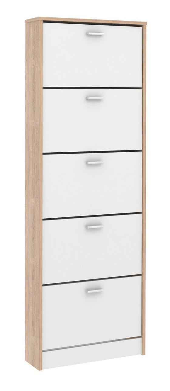 Schuhschrank Da15 - Eichefarben, MODERN, Holzwerkstoff (58/170/18cm)