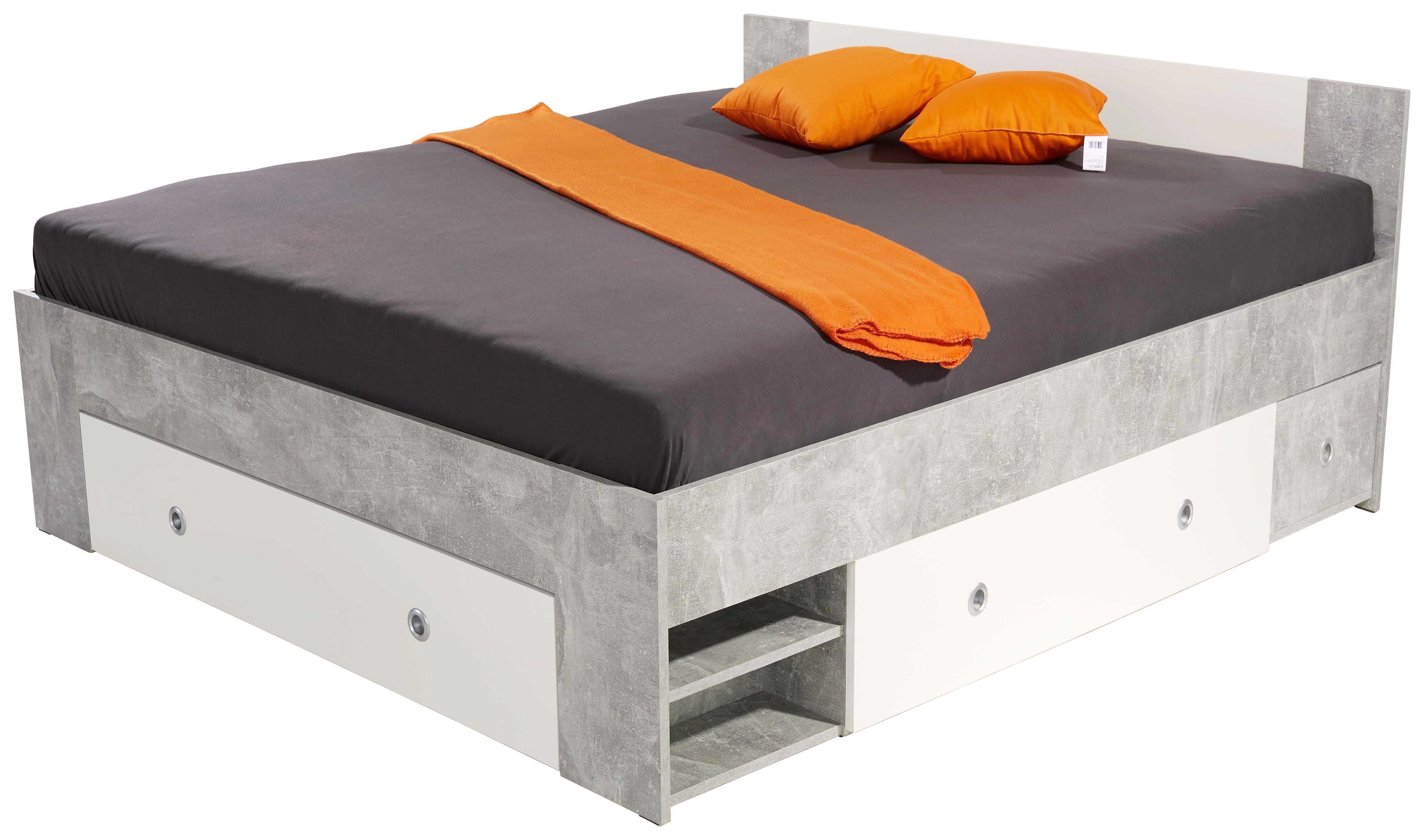 Stauraumbett azurro : Bett azurro cm beton online kaufen ➤ möbelix