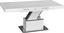 Konferenčný Stolík 2in1 - biela/farby nerezovej ocele, Moderný, kov/drevený materiál (133/170/47,5/75/80cm)