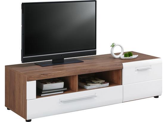 Tv Díl Avensis - bílá/barvy dubu, Moderní, kompozitní dřevo (149,3/41,1/49,6cm) - Luca Bessoni