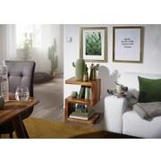 Beistelltisch S-Förmig Mumbai, Sheeshamholz Massiv - Sheeshamfarben, Design, Holz (44,5/30/60cm) - Livetastic
