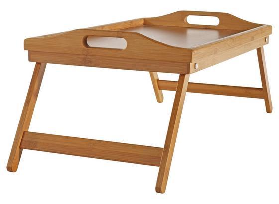 Podnos Servírovací Bambus -top- - přírodní barvy, Konvenční, kompozitní dřevo/umělá hmota (50/30/24cm) - Zandiara