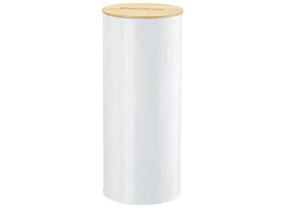 Dóza Na Potraviny Stella - bílá/přírodní barvy, Romantický / Rustikální, kov/dřevo (11/27cm) - Zandiara