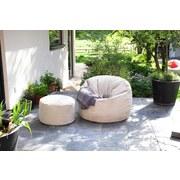 Outdoorsitzsack Donut B: 90 cm Schwarz - Schwarz, Basics, Textil (90/75/90cm) - Ambia Garden