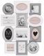 Rám Na Obrazy Janina - bílá/světle šedá, karton/umělá hmota (65,5/50/3cm) - Modern Living