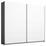 Schwebetürenschrank 226cm Belluno, Weiß/ Grau Dekor - Dunkelgrau/Weiß, MODERN, Holzwerkstoff (226/210cm)