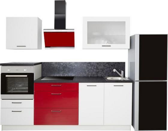 Kuchyňský Blok Star - bílá/červená, Moderní, umělá hmota (235cm)