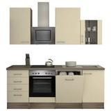 Küchenblock Eico 220 cm Magnolie - Eichefarben/Magnolie, MODERN, Holzwerkstoff (220/230/60cm) - FlexWell.ai