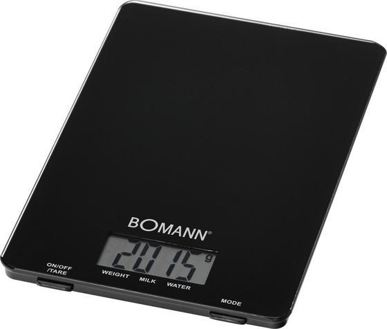Bomann Elektrische Küchenwaage Kw 1515 Cb - Schwarz, KONVENTIONELL, Glas/Kunststoff (15/1.7/22cm) - Bomann