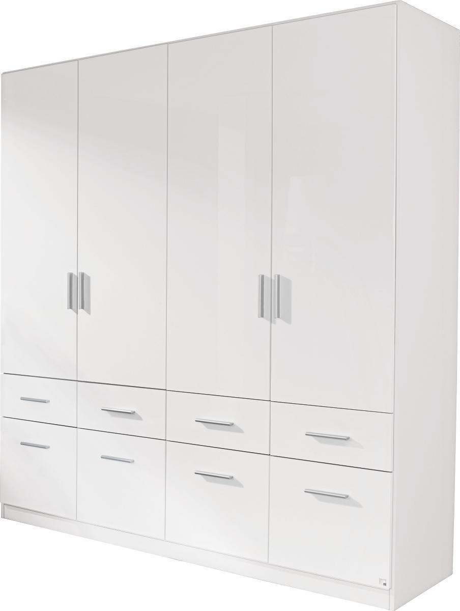 Ruhásszekrény Celle - fehér, modern, fa (181/197/54cm)