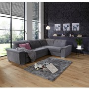 Sedacia Súprava Richmond - tmavosivá, Konvenčný, umelá hmota/drevený materiál (285/206cm) - Ombra