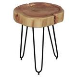 Beistelltisch Bagli D: ca. 35 cm - Schwarz/Akaziefarben, Design, Holz/Metall (35/35/46cm) - Livetastic