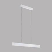 LED-hängeleuchte Climene - Weiß, MODERN, Kunststoff/Metall (95/4,5/150cm)