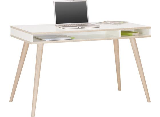 Psací Stůl Billund - bílá/barvy dubu, Moderní, dřevo/kompozitní dřevo (120/75/60cm) - Modern Living