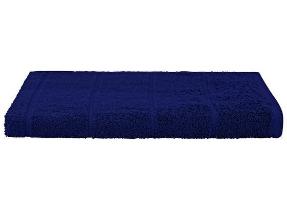 Duschtuch Liliane - Dunkelblau, KONVENTIONELL, Textil (70/140cm) - Ombra