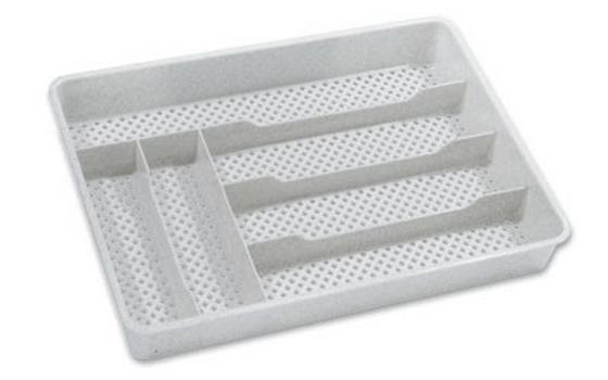 Evőeszköz Tartó Durchbrochen - Fehér/Kék, konvencionális, Műanyag (25/4,5/35cm)