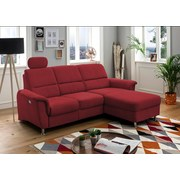 Wohnlandschaft in L-Form Parole Rot - Chromfarben/Rot, MODERN, Textil (231/165cm) - Livetastic