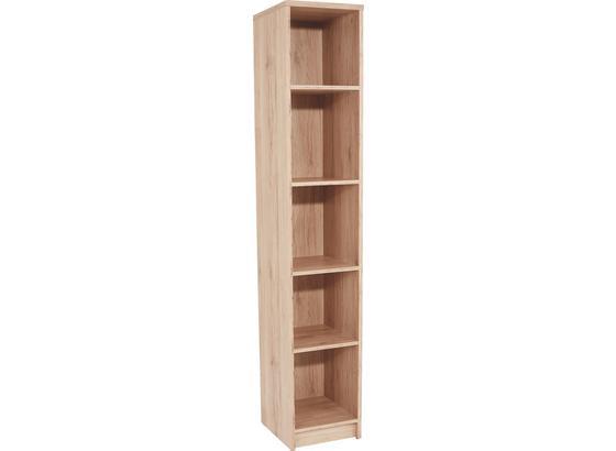 Regál 4-you Yur06 - farby dubu, Moderný, kompozitné drevo (30/189,5/34,6cm)