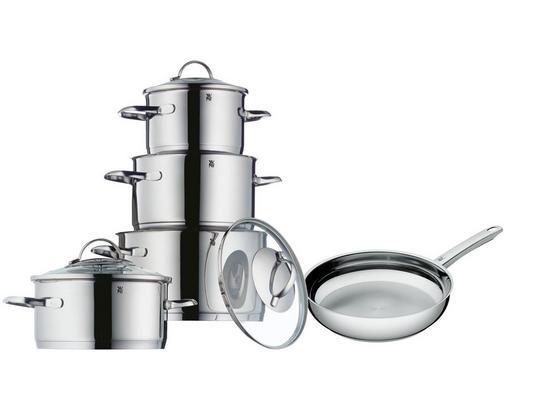WMF Kochtopfset Provence Cromargan - Silberfarben, MODERN, Glas/Metall - WMF